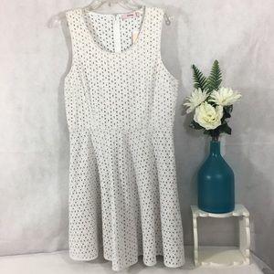 JUSTFAB Dress White Eyelet Fully Lined NWT Sz XL